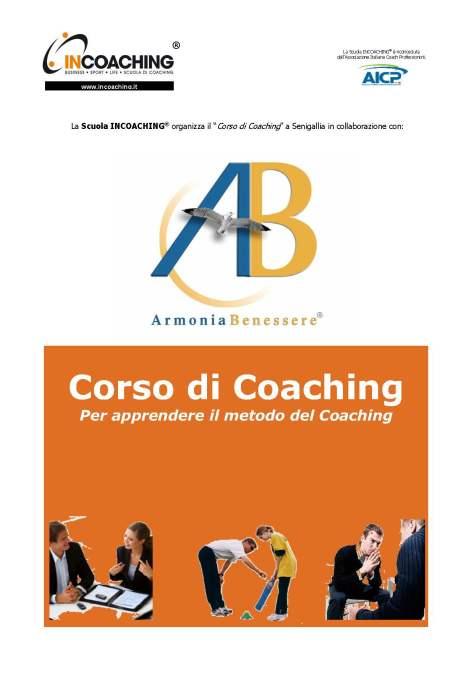 CORSO INCOACHING - Armonia & Benessere_2013_Copertina